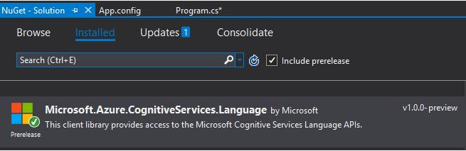 Microsoft Cognitive Services - Text Analytics API